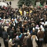 В Киево-Печерской обители освящен скульптурный монумент учителей Словенских