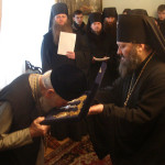 Священноархимандрит Лавры принял поздравления с Рождеством Христовым от братии обители