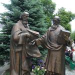 В день памяти святых равноапостольных Мефодия и Кирилла архиереи и духовенство УПЦ соборно служили в Лавре
