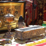 Мощи святителя Спиридона Тримифунтского торжественно перенесены из Лавры в храм Всех Святых