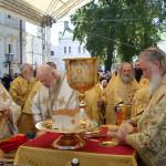 Патриаршая Божественнная литургия на Соборной площади