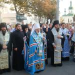 Киево-Печерская Лавра встретила Почаевскую икону Божией Матери