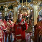 Наместник возглавил торжественные богослужения в день отдания Пасхи