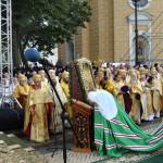 Святейший Патриарх Кирилл в праздник Крещения Руси возглавил Божественную литургию в Лавре