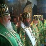 Братия молитвенно почтили память перенесения мощей преподобного Феодосия Печерского