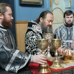В Лавре совершили первую в нынешнем году Литургию Преждеосвященных Даров