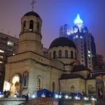 Братия Лавры молились на подворье Свято-Пантелеимоновского Афонского монастыря