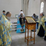 Совершено чтение акафиста на новом лаврском кладбище