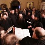 Наместник и братия молились у гроба почившего Священноархимандрита