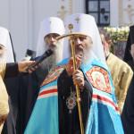 Новообраний Предстоятель УПЦ зведений на престол митрополитів Київських (відео)