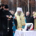 Наместник Лавры осветил место под строительство часовни в Киевской области