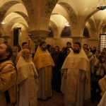 Братия Лавры совершила богослужение у мощей свт.Николая