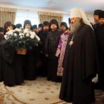 Братия Лавры поздравила Священноначалие с Рождеством Христовым