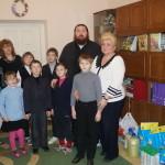 Братия Лавры посетила слабовидящих детей