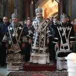 В первую пятницу Святой Четыредесятницы в Крестовоздвиженском храме была совершена Литургия Преждеосвященных Даров