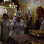 В первую Родительскую субботу наместник Лавры совершил раннюю заупокойную Литургию