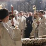 В Лавре встретили Господню Пасху (видео)