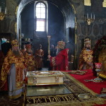Литургия среды Светлой седмицы в Трапезном храме