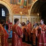 Наместник Лавры служил акафист вмч. Варваре в Великой церкви