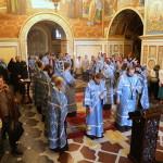 Молебное лаврское пение Успению Богородицы возглавил митрополит Павел