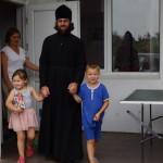 В начале нового учебного года братия Лавры помогла детям из семей переселенцев