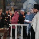 Братией Лавры была отслужена заупокойная лития по погибшим воинам, на которой присутствовали участники Всеукраинского фестиваля гармонистов
