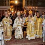 Наместник Киево-Печерской Лавры сослужил на ночной Литургии в храме Гроба Господня