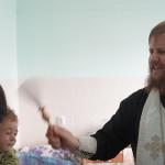 Насельник Лавры освятил инфекционное отделение детской больницы г. Бровары