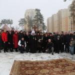 Намісник Лаври освятив місце під будівництво храму в селі Чайки