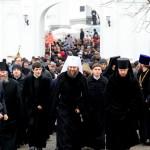 Насельники поздравили священноначалие Лавры с Рождеством Христовым