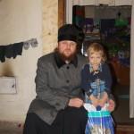 Насельники Лавры побывали с подарками у жителей села поблизости от Чернобыльской зоны