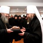 Насельники привітали священноначаліє Лаври з Різдвом Христовим