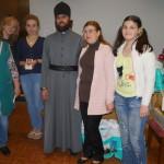 Братия Лавры поздравила с Пасхой ветеранов и инвалидов столичных организаций «Единство» и «Призыв»