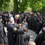 Братия Лавры поздравила Блаженнейшего Митрополита Онуфрия и своего Наместника с праздником Пасхи