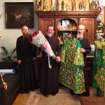 Блаженнейшего Митрополита Онуфрия поздравили с днем небесного покровителя Наместник и Духовный собор Лавры