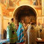 Чтение Акафиста всем преподобным Печерским возглавил митрополит Павел