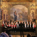 The children's choral ensembles' performance took place in the Lavra
