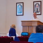 The problem of idleness was in issue during the meeting for young people at the Lavra