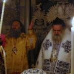 Владыка Павел совершил ночную Литургию у Гроба Господня