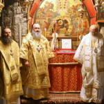 Литургию в пещере Рождества Христова возглавил Наместник Лавры
