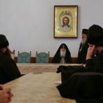 Meeting of brethren of the Lavra and schema-archimandrite Gabriel (Bunge)