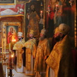 The Vicegerent of the Lavra metropolitan Pavel performed the early Liturgy in the Church of the Exaltation of the Holy Cross