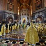 В день юбилея Его Святейшества Наместник Лавры сослужил Первосвятителю