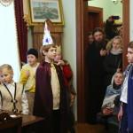 Наместника Лавры поздравляли с Рождеством Христовым колядками