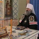 Митрополит Павел прочитал третью часть Покаянного канона в Лаврском скиту