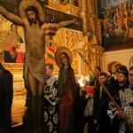 В Успенском соборе чтение Акафиста Страстям Христовым возглавил Блаженнейший Митрополит Онуфрий