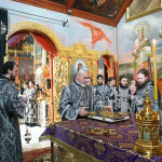 The Vicegerent of the Lavra joined the Primate of the Ukrainian Orthodox Church to perform the Liturgy of the Presanctified Gifts