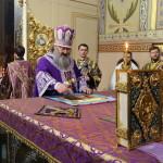 Богослужения в Зимненской обители возглавил Наместник Лавры