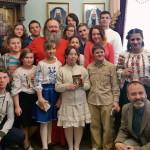 Дети из «Отчего дома» поздравили Наместника обители