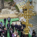 The Primate of the Ukrainian Orthodox Church consecrated the dome with the cross above the Church of Venerable Agapitus of the Caves